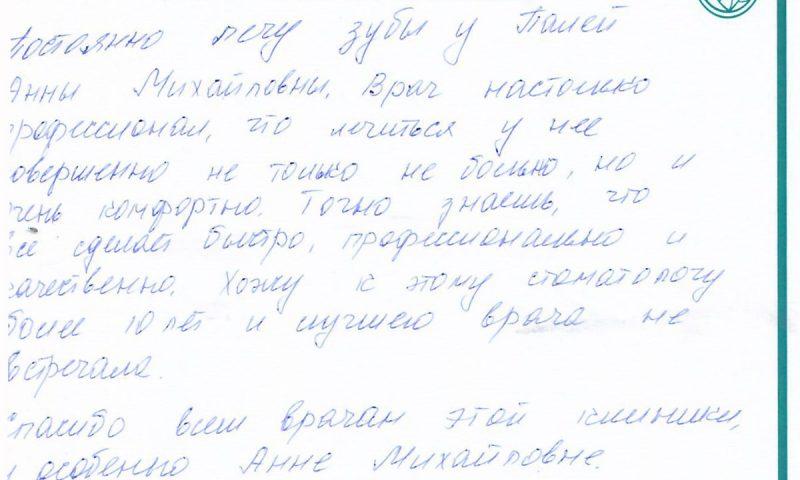 Отзыв о стоматологии 171213 Груздкова
