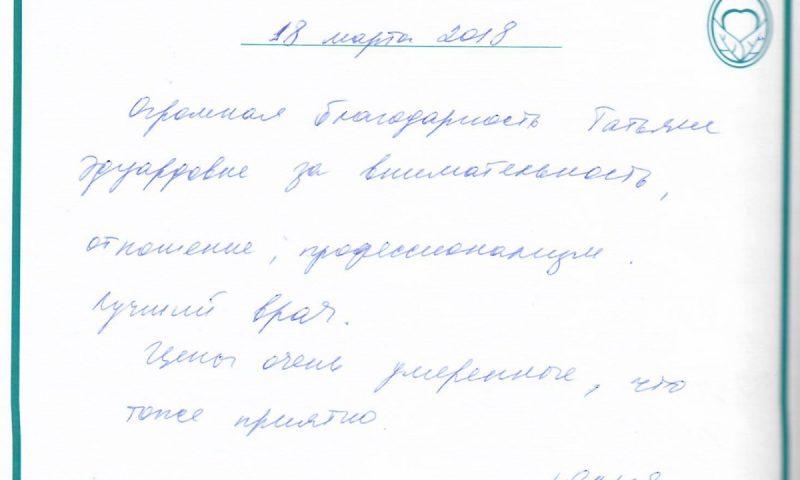 Отзыв о детской стоматологии 180318 Юлия