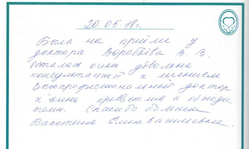 Отзыв о стоматологии 180520 Бакотина