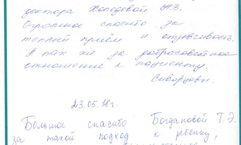 Отзыв о детской стоматологии 180523 Скворцовы, Ананичевы