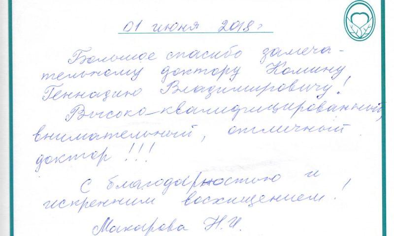 Отзыв о стоматологии 180601 Макарова