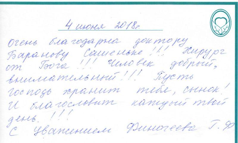 Отзыв о стоматологии 180604 Финогеева