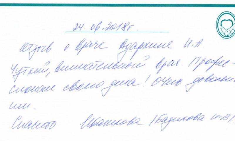 Отзыв о стоматологии 180624 Базикова