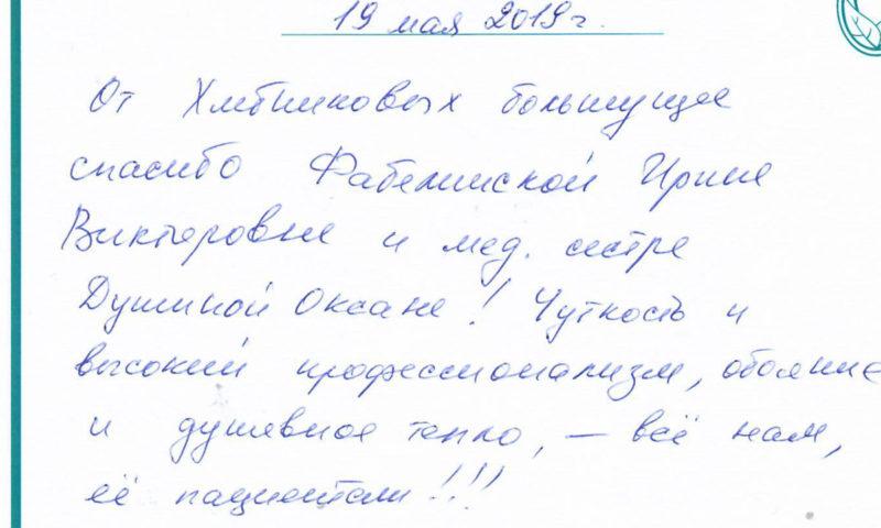 Отзыв о стоматологии 190519 Хлебниковы