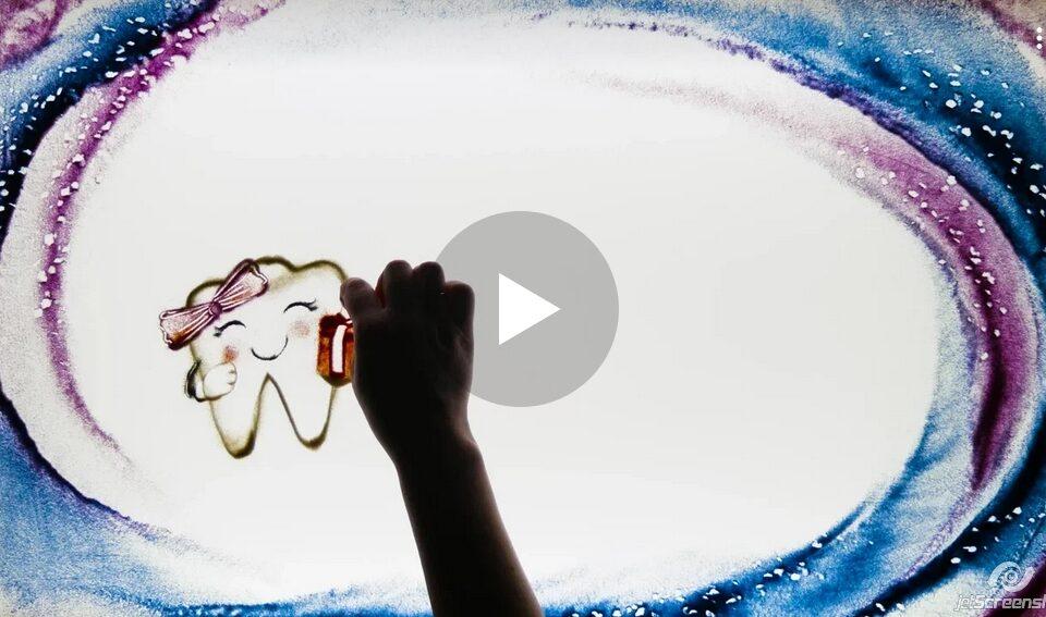 """Наше видеопоздравление с 23 февраля и 8 марта! """"Песочная"""" анимация."""